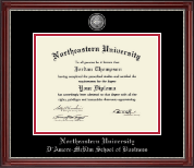Northeastern University Diploma Frame - Masterpiece Medallion Diploma Frame in Kensington Silver