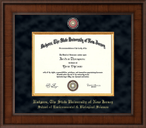 Rutgers University Diploma Frame - Presidential Masterpiece Diploma Frame in Madison