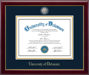 University of Delaware Diploma Frame - Masterpiece Medallion Diploma Frame in Gallery