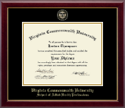 Virginia Commonwealth University Diploma Frame - Masterpiece Medallion Diploma Frame in Gallery