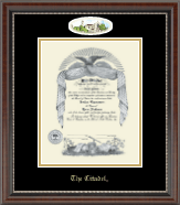 The Citadel The Military College of South Carolina Diploma Frame - Campus Cameo Diploma Frame in Chateau