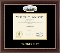 Vanderbilt University Diploma Frame - Campus Cameo Diploma Frame in Chateau