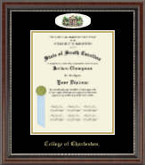 College of Charleston Diploma Frame - Campus Cameo Diploma Frame in Chateau