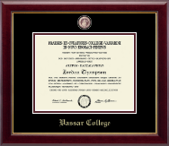 Vassar College Diploma Frame - Masterpiece Medallion Diploma Frame in Gallery