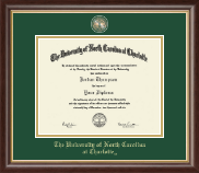 The University of North Carolina at Charlotte Diploma Frame - Masterpiece Medallion Diploma Frame in Hampshire