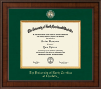 The University of North Carolina Charlotte Diploma Frame - Presidential Masterpiece Diploma Frame in Madison
