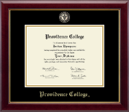 Providence College Diploma Frame - Masterpiece Medallion Diploma Frame in Gallery