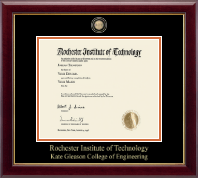 Rochester Institute of Technology Diploma Frame - Masterpiece Medallion Diploma Frame in Gallery
