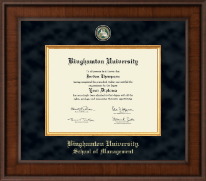 Binghamton University - State of New York Diploma Frame - Presidential Masterpiece Diploma Frame in Madison
