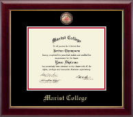 Marist College Diploma Frame - Masterpiece Medallion Diploma Frame in Gallery