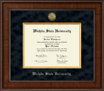 Wichita State University Diploma Frame - Presidential Gold Engraved Diploma Frame in Madison