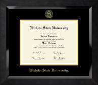 Wichita State University Diploma Frame - Gold Embossed Diploma Frame in Eclipse