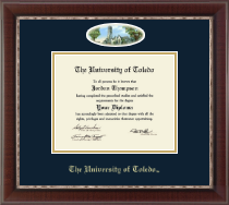 The University of Toledo Diploma Frame - Campus Cameo Diploma Frame in Chateau