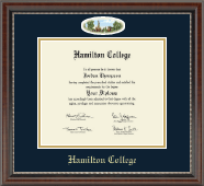 Hamilton College Diploma Frame - Campus Cameo Diploma Frame in Chateau