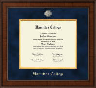 Hamilton College Diploma Frame - Presidential Masterpiece Diploma Frame in Madison