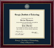 Georgia Institute of Technology Diploma Frame - Masterpiece Medallion Diploma Frame in Gallery