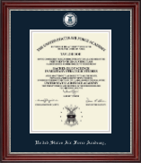 United States Air Force Academy Diploma Frame - Masterpiece Medallion Diploma Frame in Kensington Silver
