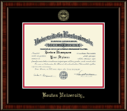 Boston University Diploma Frame - Gold Embossed Diploma Frame in Ridgewood