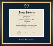Emory University  Diploma Frame - Gold Embossed Diploma Frame in Studio Gold