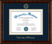 University of Delaware Diploma Frame - Gold Embossed Diploma Frame in Ridgewood