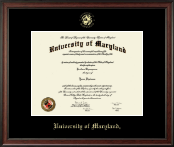 University of Maryland, College Park Diploma Frame - Gold Embossed Diploma Frame in Studio