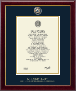 Rice University Diploma Frame - Masterpiece Medallion Diploma Frame in Gallery