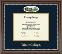 Trinity College Diploma Frame - Campus Cameo Diploma Frame in Chateau