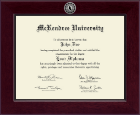 McKendree University Diploma Frame - Century Silver Engraved Diploma Frame in Cordova
