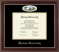 Denison University  Diploma Frame - Campus Cameo Diploma Frame in Chateau