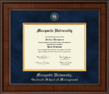 Marquette University Diploma Frame - Presidential Masterpiece Diploma Frame in Madison