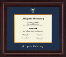 Marquette University Diploma Frame - Presidential Masterpiece Diploma Frame in Premier