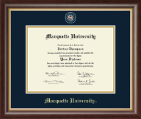 Marquette University Diploma Frame - Masterpiece Medallion Diploma Frame in Hampshire