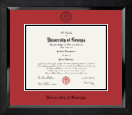 The University of Georgia Diploma Frame - 'Winning Colors' - Black Embossed Diploma Frame in Eclipse