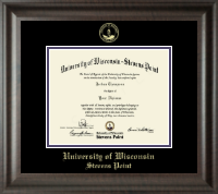 University of Wisconsin Stevens Point Diploma Frame - Gold Embossed Diploma Frame in Acadia