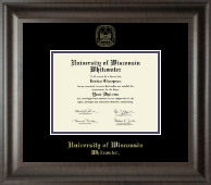 University of Wisconsin Whitewater Diploma Frame - Gold Embossed Diploma Frame in Acadia