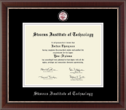 Stevens Institute of Technology Diploma Frame - Pewter Masterpiece Medallion Diploma Frame in Chateau