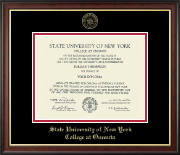 State University of New York - College at Oneonta Diploma Frame - Gold Embossed Diploma Frame in Studio Gold