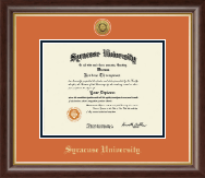 Syracuse University Diploma Frame - Gold Engraved Medallion Diploma Frame in Hampshire