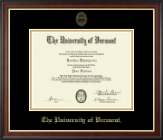 The University of Vermont Diploma Frame - Gold Embossed Diploma Frame in Studio Gold