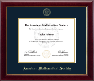 American Mathematical Society Certificate Frame - Gold Embossed Certificate Frame in Gallery