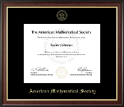 American Mathematical Society Certificate Frame - Gold Embossed Certificate Frame in Studio Gold