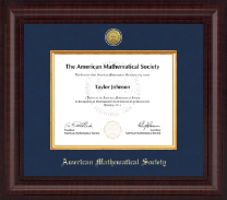 American Mathematical Society Certificate Frame - Presidential Gold Engraved Certificate Frame in Premier