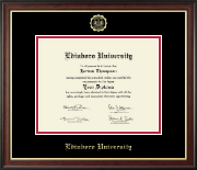 Edinboro University Diploma Frame - Gold Embossed Diploma Frame in Studio Gold