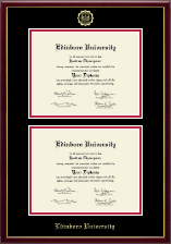 Edinboro University Diploma Frame - Double Document Diploma Frame in Galleria