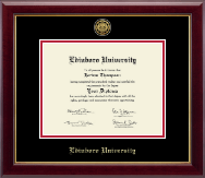 Edinboro University Diploma Frame - Gold Engraved Medallion Diploma Frame in Gallery