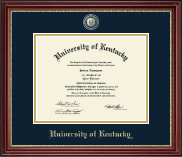 University of Kentucky Diploma Frame - Masterpiece Medallion Diploma Frame in Kensington Gold