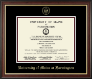 University of Maine Farmington Diploma Frame - Gold Embossed Diploma Frame in Studio Gold