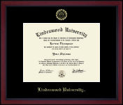 Lindenwood University Diploma Frame - Gold Embossed Achievement Edition Diploma Frame in Academy