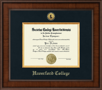 Haverford College Diploma Frame - Presidential Gold Engraved Diploma Frame in Madison