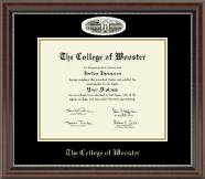 The College of Wooster Diploma Frame - Campus Cameo Diploma Frame in Chateau